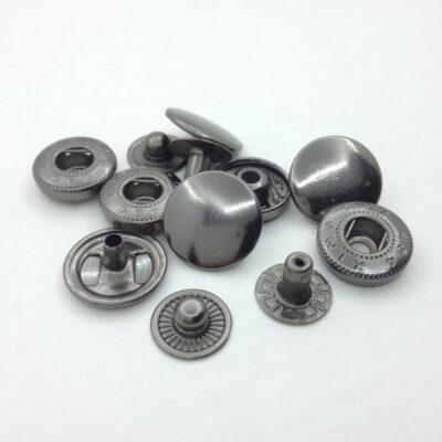 Кнопки альфа 12 мм черный никель