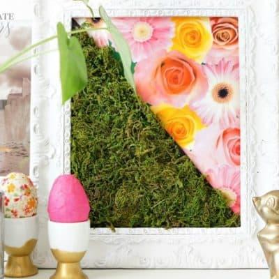Spring moss art diy