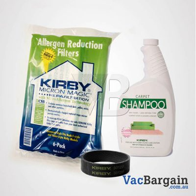 Combo 1 Shampoo 946 ml +1 Belts + 6 Bags All Kirby Models
