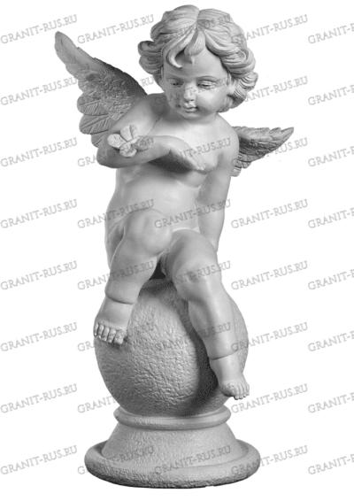 Ангел на шаре с бабочкой и крыльями СК 008