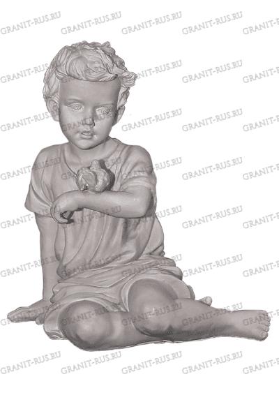 Скульптура мальчик с птичкой CK 057