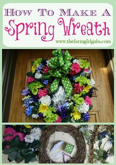 DIY Spring Wreath - Pinterest