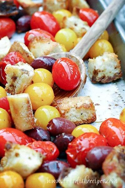 Roasted Tomato and Bread Salad (Panzanella)