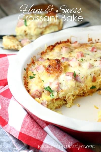 Ham Swiss Croissant Bake