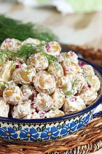 Goat Cheese Dill Potato Salad