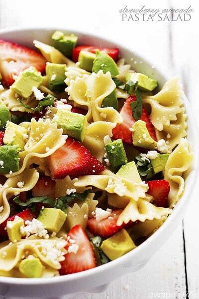 Strawberry Avocado Pasta Salad