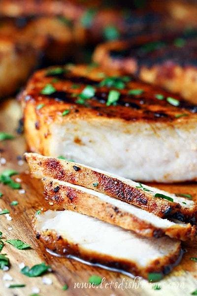 Juicy Grilled Pork Chops
