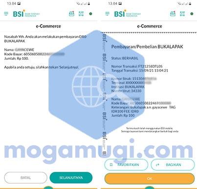 BSI Mobile e-commerce Bukalapak