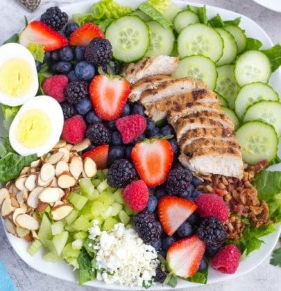 Mixed Berry Cobb Salad w/ Goat Cheese Vinaigrette