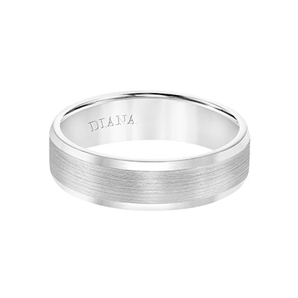 Comfort Fit Wedding Band with Bevel Edge and Satin Finish