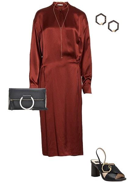 satin shirt dress | 40plusstyle.com