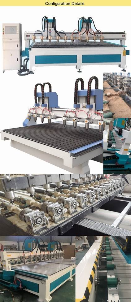 CNC Milling and Drilling Machine for Wood Furniture Cabinet Nesting 3015-8 router details
