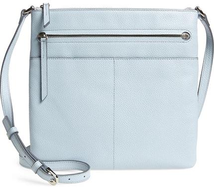 Nordstrom leather crossbody bag | 40plusstyle.com