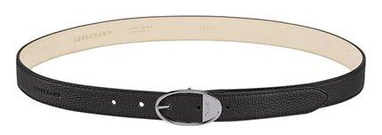 Longchamp oval buckle leather belt | 40plusstyle.com