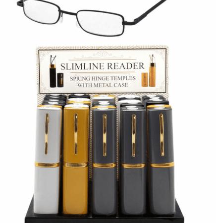 Premium reading glasses in tube