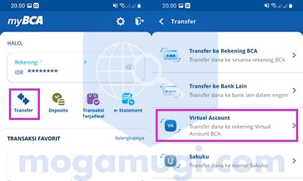 Cara Top Up Saldo OVO Lewat MyBCA Apps