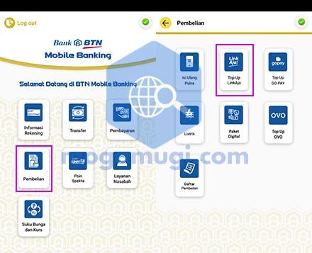 Cara Top Up LinkAja di BTN Mobile