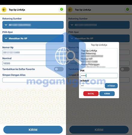 isi Linkaja di BTN Mobile Banking
