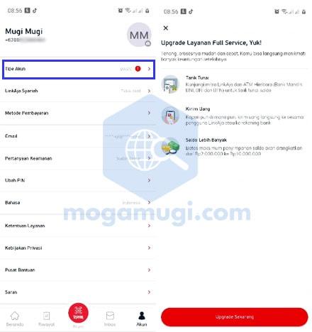 Cara Upgrade Linkaja Full Service Terbaru