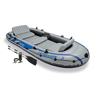 Excursion 5 Boat Set with Aluminium Oars and Pump