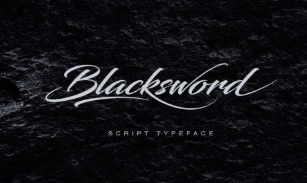 Blacksword Font Family Free Download
