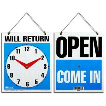 Cheap Store Signs - Will Return with Clock - Other side is Open