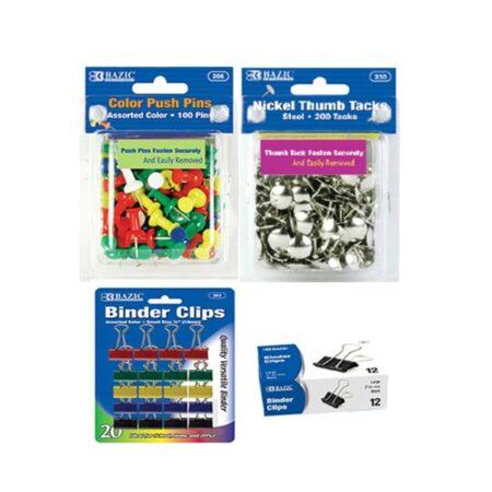 Paper Clips, Binder Clips, Tacks & Pins