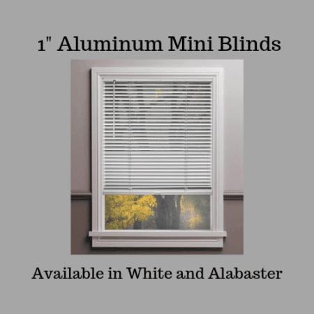 """1"""" aluminum cordless mini blinds"""