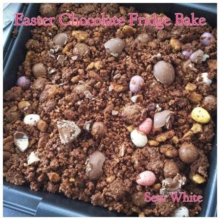 Sew White Easter chocolate fridge bake bark 3