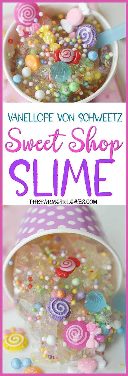 Kids will love creating some sticky fun with this Vanellope von Schweetz Sweet Shop Slime recipe. #slime #slimerecipe #wreckitralph #Disneycraft #vanellopevonschweetz #waltdisneyworld