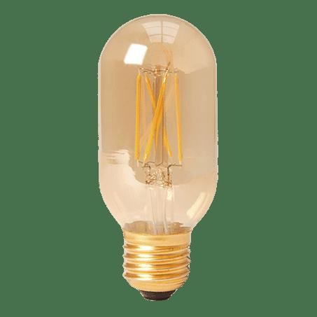 TUBULAR LAMP E27 GOLD FINISH