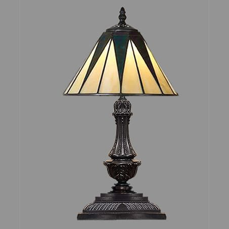 Art Nouveau Table Lamp with Leaded shade