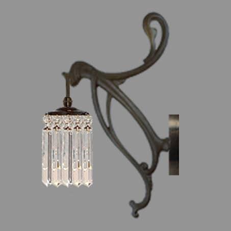 Art Nouveau crystal wall light
