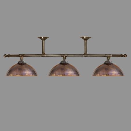Lighting Pendant 3 Light Bar Copper Dome shades