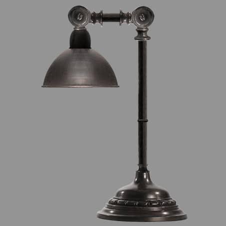 Desk-table lamp metal shade