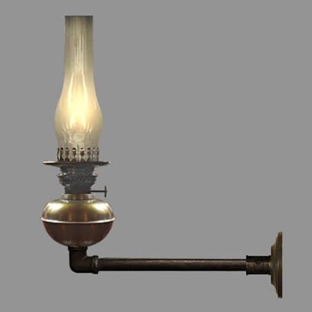 Rustic Oil Long wall light