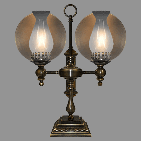 Victorian Table Lamp with double reflector