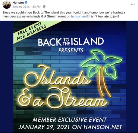 facebook event post idea