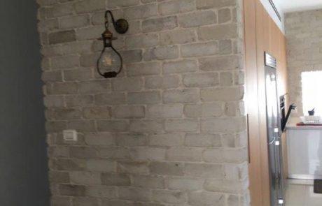 בריקים מפירוק לבן קיר מטבח