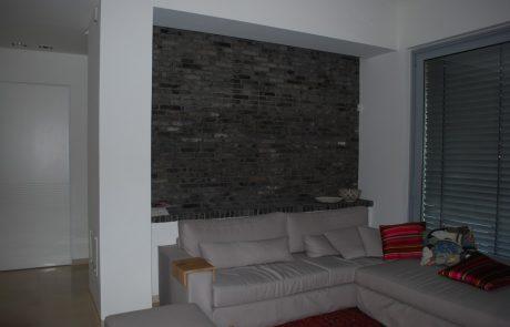 בריק פירוק אפור שחור צר - חיפוי קיר סלון