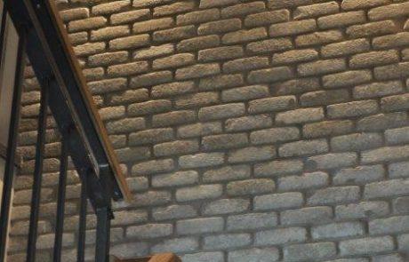 בריק רטרו דגם J - חיפוי קירות פנים