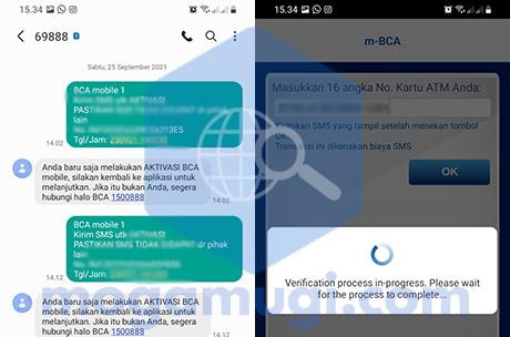 SMS Verifikasi Aktivasi BCA Mobile