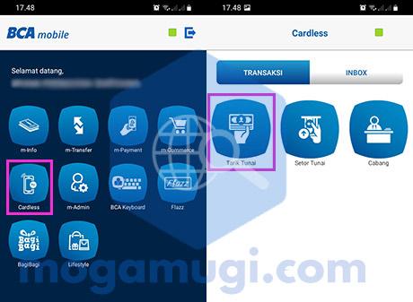 Cardless BCA Mobile