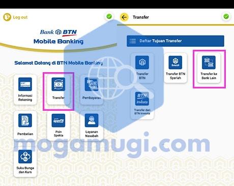 Transfer BTN ke BSI Lewat BTN Mobile