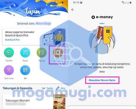 Cara Top Up Saldo E-Money di HP Pakai New Livin By Mandiri