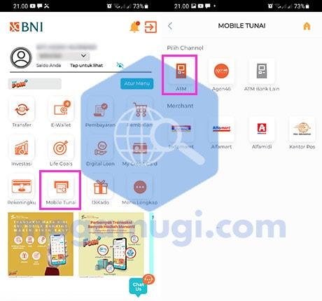 Cara Tarik Tunai di ATM BNI Tanpa Kartu Via BNI Mobile Tunai