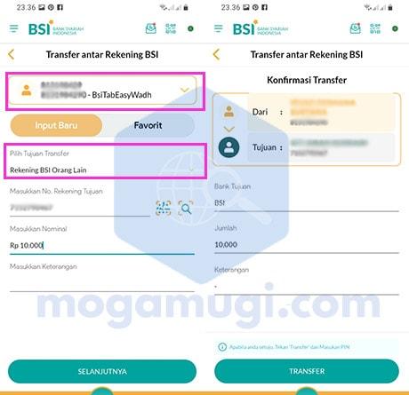 Transfer Lewat BSI Mobile ke Bank Syariah Indonesia