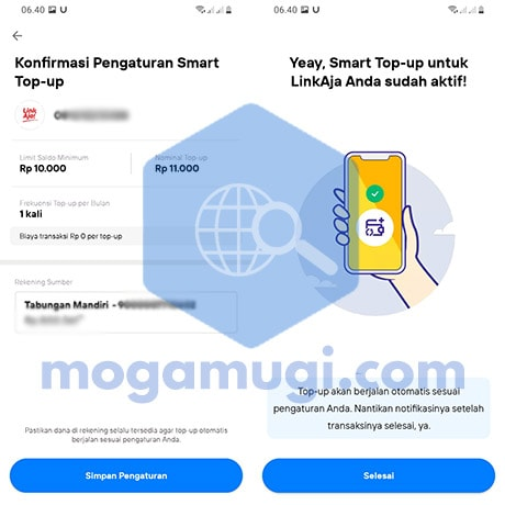 Cara Aktifkan Smart Top Up LinkAja di New Livin by Mandiri