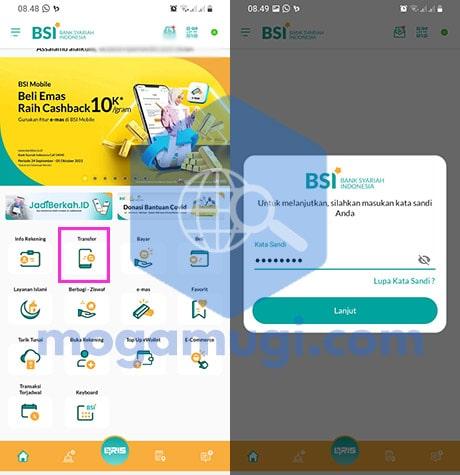 Cara Transfer BSI Ke Mandiri Lewat BSI Mobile Banking
