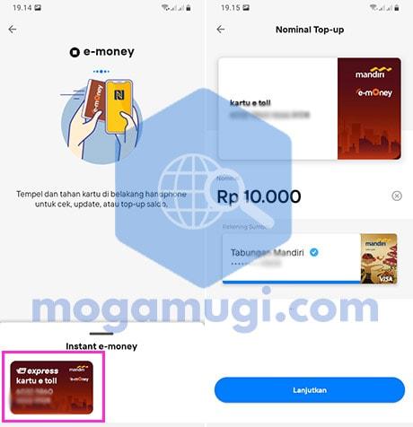 Pilih Kartu Instan E-Money